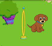 Hra - Dora cvičí štěňátko