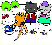 Hra - Hello Kitty omalovánka