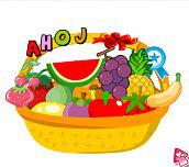 Košík s ovocem