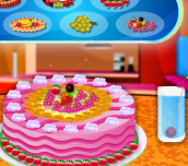 Cake with Fruit Decorations