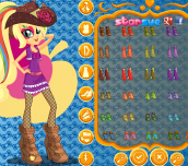 My Little Pony Rainbow Rocks Applejack Dress Up