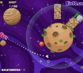 Hra - Sheep vs Aliens 2 Zero Gravity