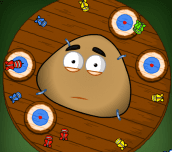 Pou Dart Wheel