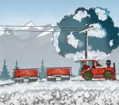 Hra - Santa Steam Train Delivery