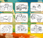 Hra - Monster Truck Coloring Book
