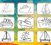 Hra - Boats Coloring Book