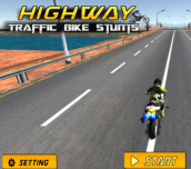 Hra - Highway Traffic Bike Stunts