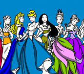 Hra - Disney Princess Coloring