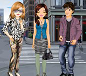 Setkání přátel ve městě