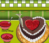 Black Forest Cake Cooking