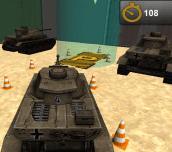 3D Army Tank Parking