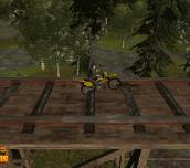 Hra - Bike tricks railroad racer