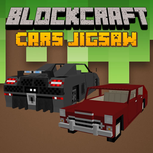 Hra - Blockcraft Cars Jigsaw
